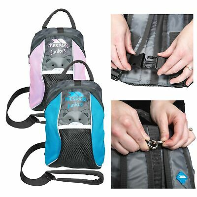 Trespass Mini Me Girls School Nursery Bag Toddlers Backpack with Safety Rein