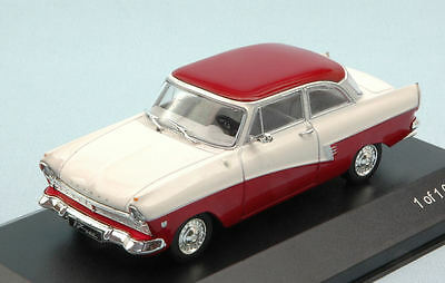Ford Taunus 17M (P2) 1957 White / Dark Red 1:43 Model WB190 WHITEBOX