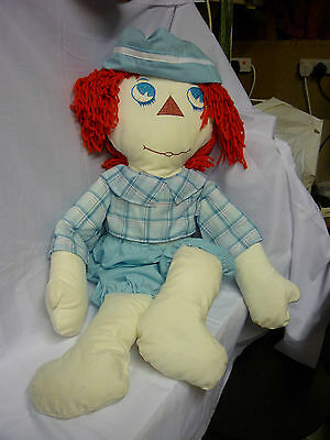 """Raggedy Andy Rag doll & clothes Approx 36"""" high (3 foot) Made by me!"""