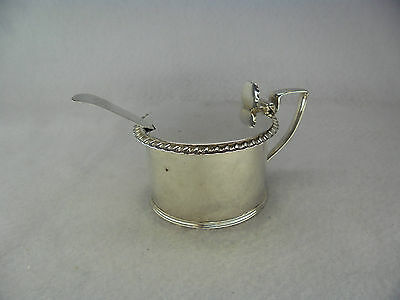Rebecca Emes Georgian Solid Silver Mustard Pot & Exeter 1809 Spoon