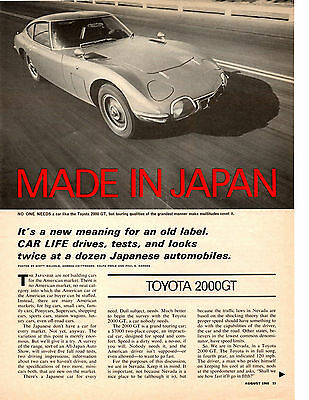 Cafe Life Magazine Drives & Test 2Dz Japanese Autos  ~  Nice 12-Page Article