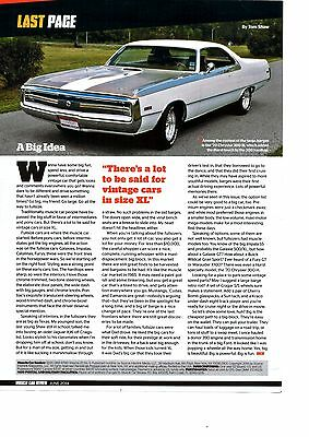 1970 Chrysler 300-H  ~  Nice Single-Page Article / Ad