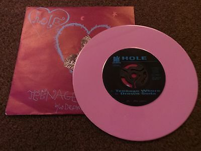 "HOLE - Teenage Whore(GERMAN 1991 7"" PINK VINYL SINGLE / NR MINT!!!!)"