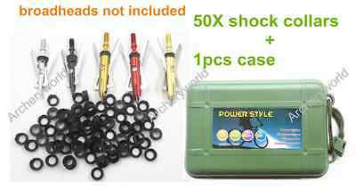 50pcs Replacement Shock Collar for Rage Hypodermic X-Treme Crossbow Broadhead