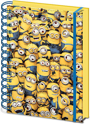 Minions Montage 3D A5 Dispicable Me Official Universal Hardback School