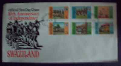 Swaziland 1978 10th anniv. Independence set FDC