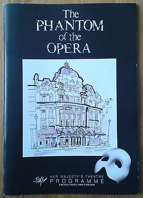 The Phantom of the Opera programme Her Majesty's Theatre March 2012 Peter Joback