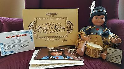 "Gregory Perillo Native American Doll "" Song of the Sioux """