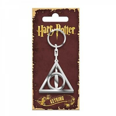 Harry Potter Hogwarts Deathly Hallows Gift Charm Enamel Keyring Official License