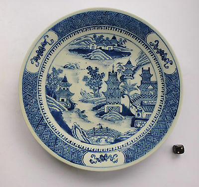 China Porzellan Teller Jiaqing porcelain plate pagoda river 18th/19th porcelaine