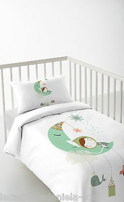HACIENDO EL INDIO DREAMLAND Funda nordica para cuna de 60cm /Duvet cover for cot