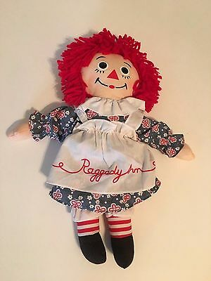 "15"" Raggedy Ann Stuffed Plush Doll Toy"