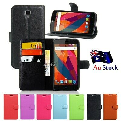 Wallet Leather Flip PU Case Cover For Telstra Slim Plus / ZTE Blade L5
