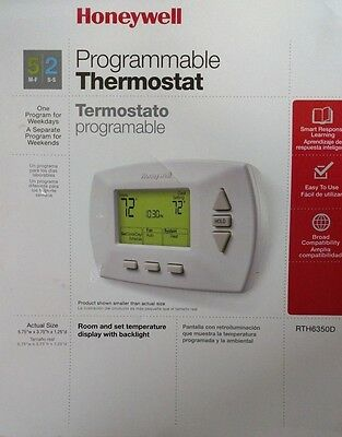 Honeywell Programmable Thermostat Model# RTH6350D