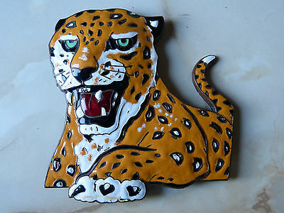 A Leyland LEOPARD enamel Bus radiator badge