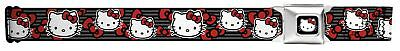 Hello Kitty Animated Character Bows & Stripes Collage Seatbelt Belt