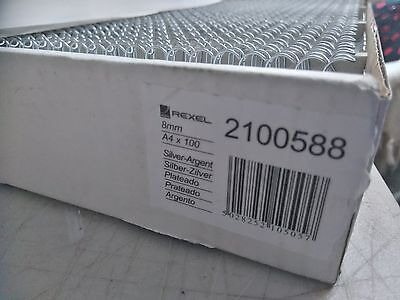 A4 Rexel Wire Binder 8Mm 20 Loops X 100