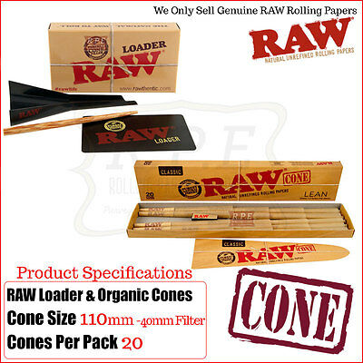 RAW Cone Loader + 20 Raw Lean Cones Combo Gift Sets