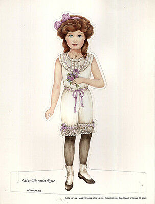 Miss Victoria Rose Fashion Paper Doll Current