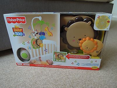 Fisher Price Baby Zoo Snuggle Cub Soother Cot Mobile New