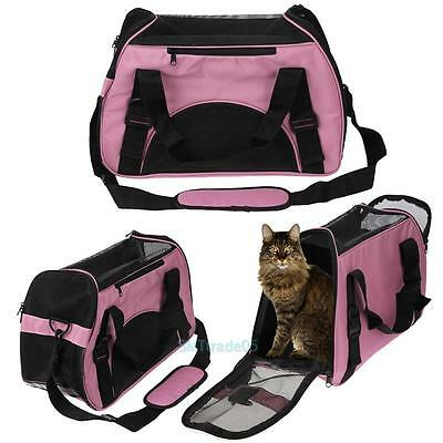 Pet Carrier Soft Sided Small Cat Dog Comfort Travel Tote Bag Airline Approved S5