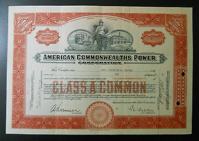 American Commonwealths Power Corp. stock certificate (#2)