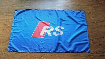 Audi Rs Blue Flag Banner 3X5Ft Rs5 Rs3 Rs4 Rs7 Rs6 Tt Rs