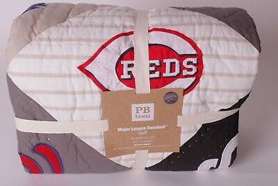 NWT Pottery Barn PB Teen MLB Patchwork twin quilt baseball national league NL