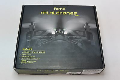 Used Parrot Minidrones SWAT Bluetooth Airborne Night Drone with Camera - Black