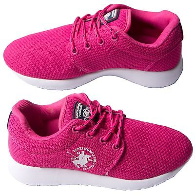 Girls Mesh Trainers Lace Up Footwear Shoes By Santa Monica Polo Club Sizes 1-4