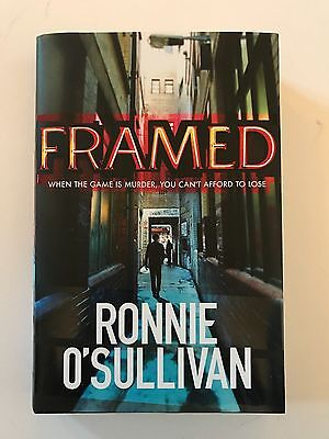 Ronnie O'sullivan Hand Signed Autobiography Book 'framed' Rare 3.