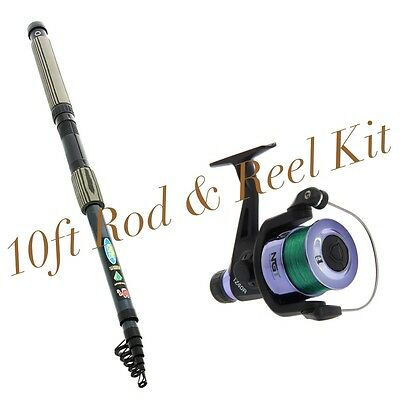NEW Lineaeffe 'Oxigen' 10FT Mixed Carbon Telescopic Rod And Reel Combo