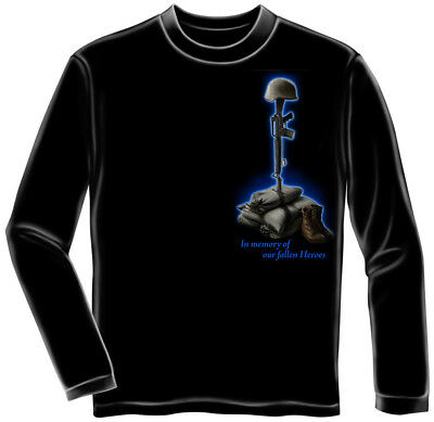 US Soldier In Memory Of Our Fallen Heroes Adult Long Sleeve T-Shirt Tee
