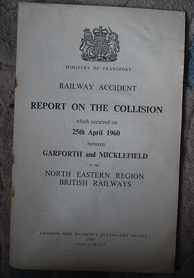 Railway Accident Report, Garforth and Micklefield 25th April 1960