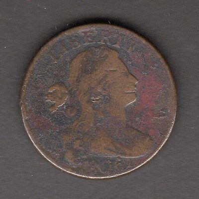 US 1806 Draped Bust Large Cent Coin in Good Condition