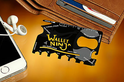 The Original Vante® | Wallet Ninja™ | 18-in-1 Multi-use Credit Card Sized Tool