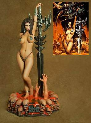 Exclusive Hcg 1/4 Scale Heavy Metal Guardian Girl Statue Figure Bust & Art Print