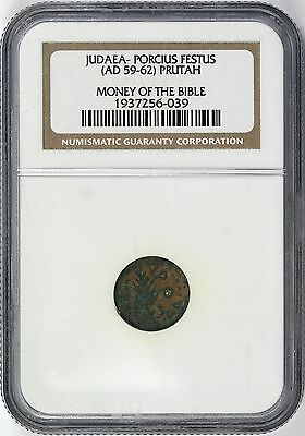 Ancient Money of the Bible Judaea Porcius Festus AD 59-62 Prutah NGC Certified