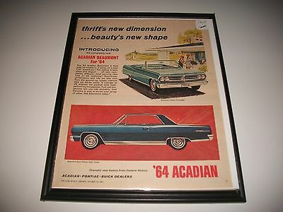 1964 Canadian Pontiac Acadian Beaumont Coupe / Convertible Original Print Ad.