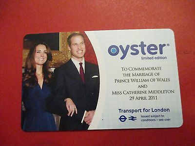New Oyster Card  Limited Edition To Commemorate The Marriage Of Prince William