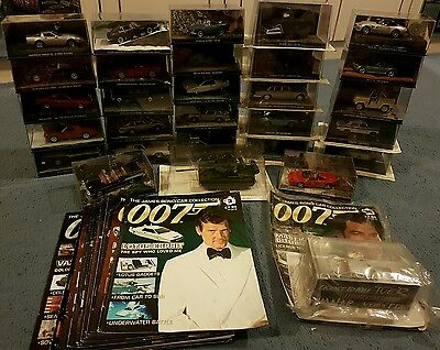 The James Bond Car Collection. 29 vehicles and magazines