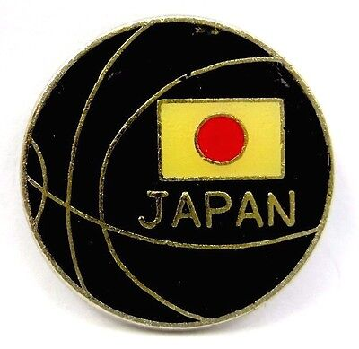 Rare Vintage Japan Basketball  Association Great Sport Badge Pin