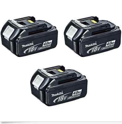 3X Brand-New Genuine Makita 4.0Ah 18v Li-Ion Battery BL1840 for LXT drill saw