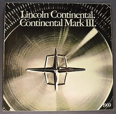 1969 Lincoln Brochure Continental & Mark III, Limousine Excellent Original 69