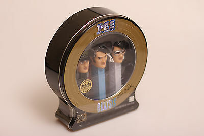 Elvis Presley Collectible 3Pc Pez Set + Cd In Limited Edition Tin Box 2007