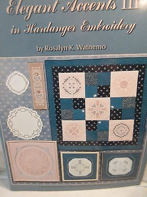 ELEGANT ACCENTS III IN HARDANGER EMBROIDERY Chart by Rosalyn Watnemo