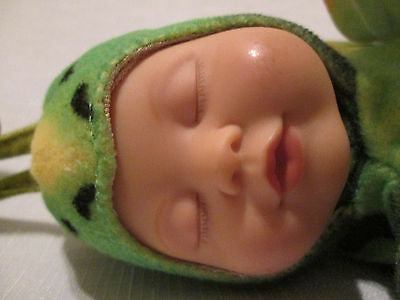 Anne Geddes Baby Butterflies bean filled collection baby doll green