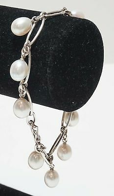 Tiffany & Co. Elsa Peretti Sterling Silver Bracelet with Pearls