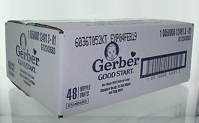 Gerber Good Start Standard Nipple & Ring Units 48 Pack Latex Free Feb 2019