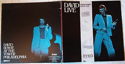 *** DAVID BOWIE - DAVID LIVE *** RYKO Limited Edition 2 clear LPs